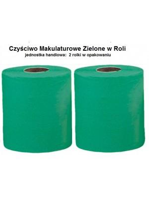 Czyściwo Makulatura Zielone 2 rolki