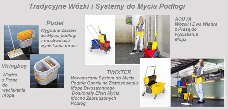 Wózki do Mycia Podłogi, Wiadra, Wyciskarka Mopa