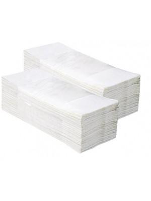 Białe Reczniki Składane w ZZ 4000 szt karton
